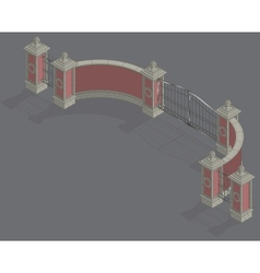 isometric Gate portal vector image
