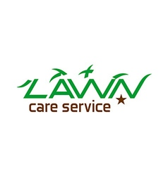 Lawn care logo vector image