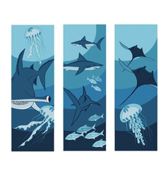 Ocean banner vector