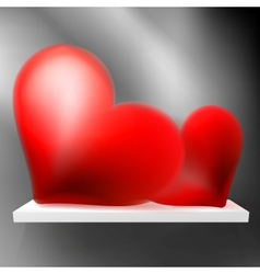 Pair of valentine heart on shelf EPS10 vector image vector image