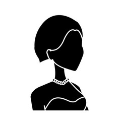 Profile happy smiling bride woman character vector