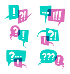 question marks on speech bubbles icons business vector image