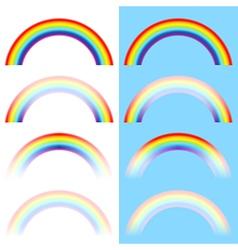 rainbow arc set vector image vector image