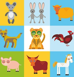 Scrap card with animals seamless pattern vector