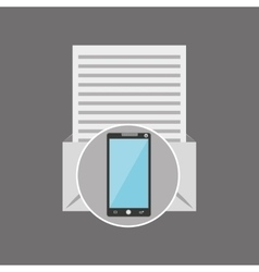 Smartphone news letter post vector