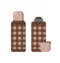 Thermos flask icons vector