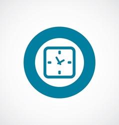 time icon bold blue circle border vector image vector image