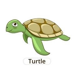 Turtle underwater animal cartoon vector