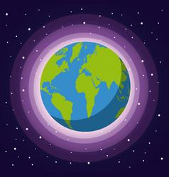 Universe flat vector