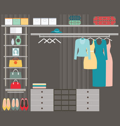walk in closet vector image