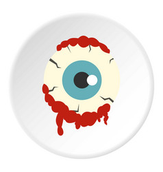 zombie eyeball icon circle vector image