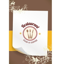 With label and decorations vector