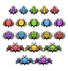 Colorful glossy badges vector