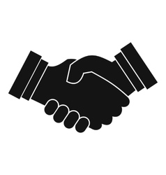 Business handshake icon simple style vector