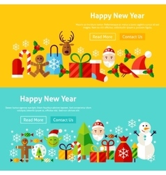 Happy New Year Website Banners vector image