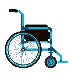 Blue wheelchair design medical element icon vector