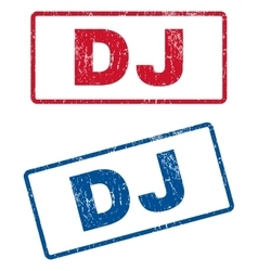 Dj rubber stamps vector