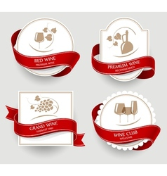 Labels set for wine vector image
