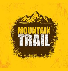 outdoor adventure trail creative design vector image