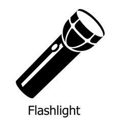 flashlight icon simple black style vector image