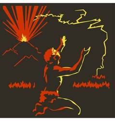 Fire1 vector image