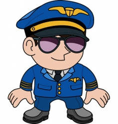 Airline pilot vector