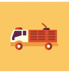 Fire truck transportation flat icon vector