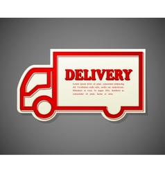 Simple card of a truck shape transportation vector