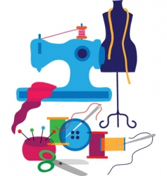 sewing and textiles vector image