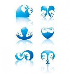 symbols of water vector image