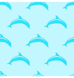 Dolphin seamless 2d pattern vector