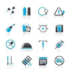 Pregnancy and contraception icons vector