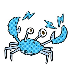 Comic cartoon crab vector
