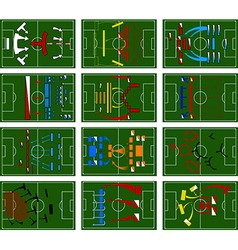 Football fields vector
