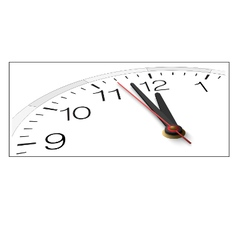 Clock face with timestamp with numbers isolated vector