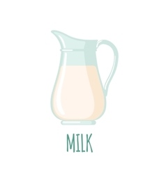 Milk jug icon vector