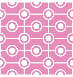 Abstract circles seamless geometric pattern vector