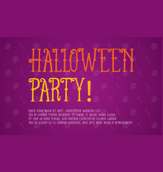 Background halloween party style collection vector