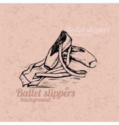 Ballet slippers background vector