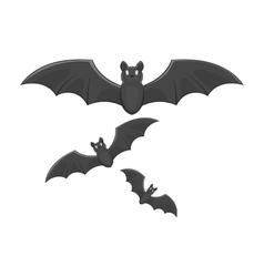 Bats icon black monochrome style vector image vector image