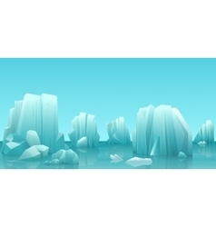 Cartoon nature winter arctic ice landscape with vector image