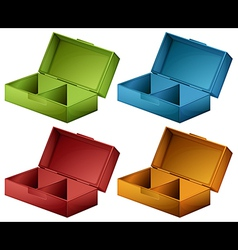 Coloured boxes vector