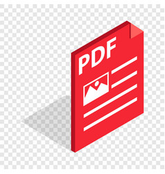 Document file format pdf isometric icon vector