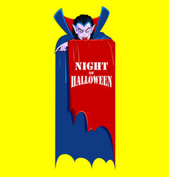 dracula in happy halloween holiday night vector image
