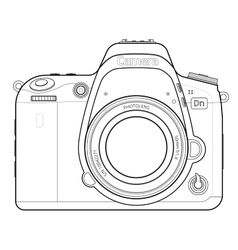 Dslr camera outline vector