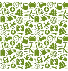 Electric car and ecology seamless pattern vector image vector image