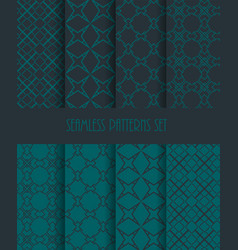 Fashion fabric ornament collection endless vector