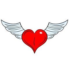 flying heart vector image