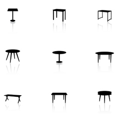 Furniture icons - table vector image vector image