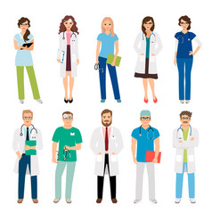 Healthcare medical team workers vector